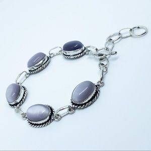 Monalisa Artisan Sterling Silver Bracelet Purple